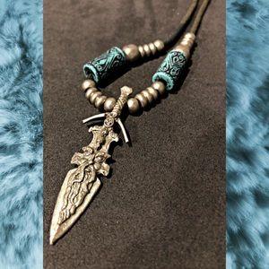 Vintage Wizards sword magic warrior necklace